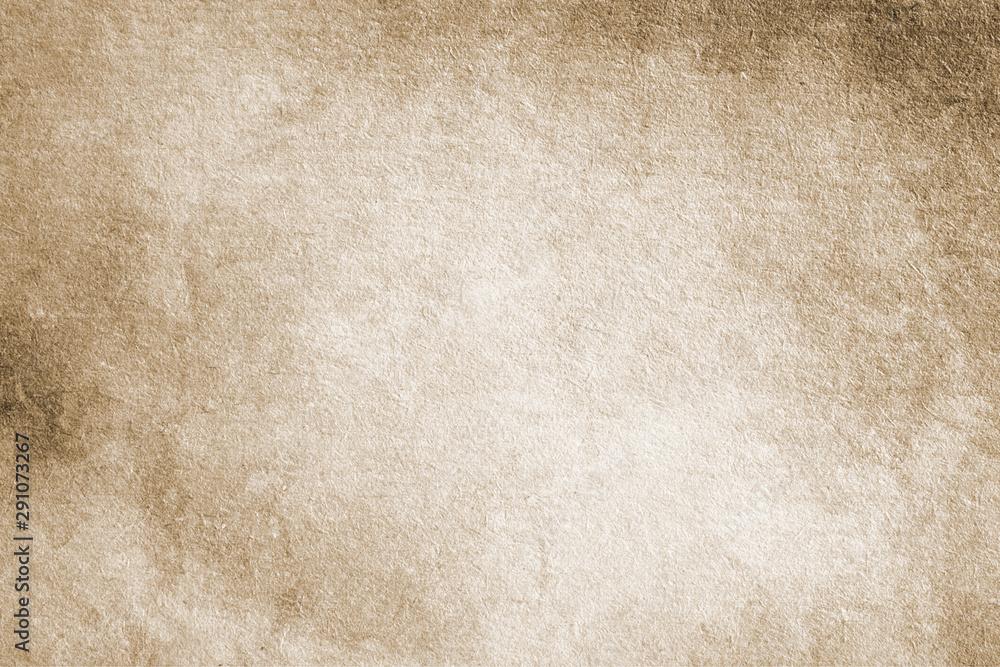 Fototapety, obrazy: Old vintage background, paper texture, grunge, vintage, retro, blank, rough, stains, streaks, brown, beige