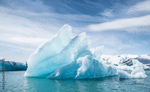 Photographie Jokulsarlon glacier ice lagoon, Iceland