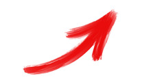 Red Paint Arrow Vector Abstrac...