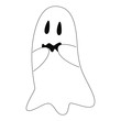 Scared ghost vector illustration.