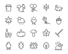 Set Of Autumn Icons, Season, L...