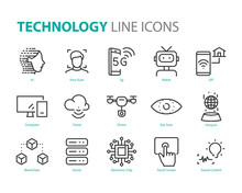 Set Of Technology Icons, 5g, A...