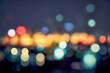 night light cityscape bokeh background