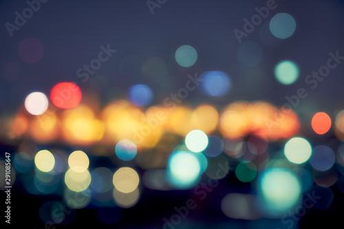 Fototapeta night light cityscape bokeh background obraz na płótnie