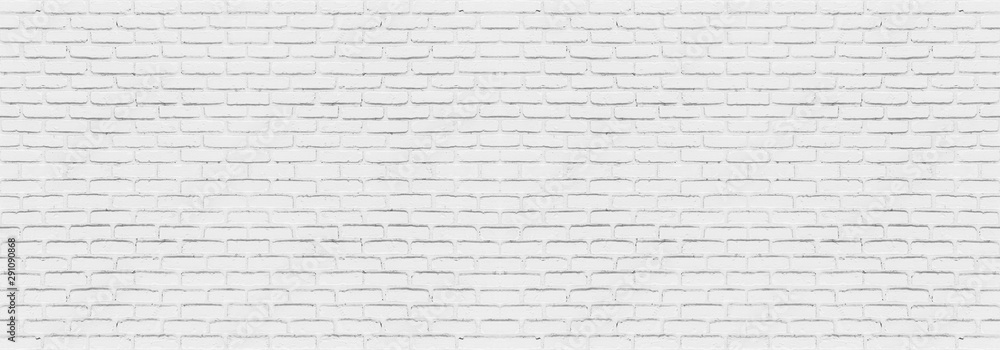 Fototapeta Abstract white brick wall texture for your design background or wallpaper. Panorama picture.