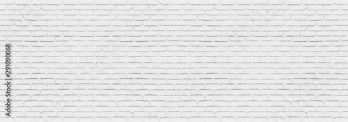 Wall Murals Brick wall Abstract white brick wall texture for your design background or wallpaper. Panorama picture.