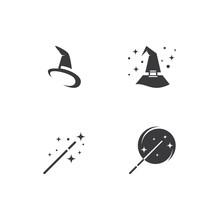 Wizard Character Element Logo