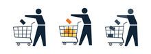 Shopper, Customer With Cart Ma...