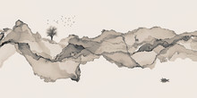 Abstract Background Ink Line D...
