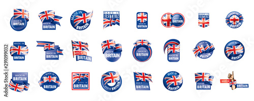 Fotografia United Kingdom flag, vector illustration on a white background