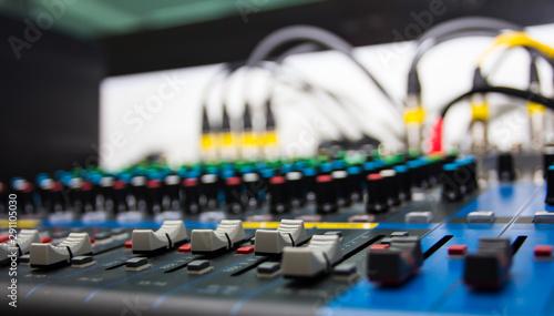 Fotografía  Audio sound mixer control, electornic device