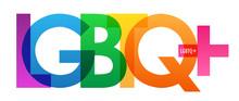 LGBTQ  Rainbow Vector Typograp...