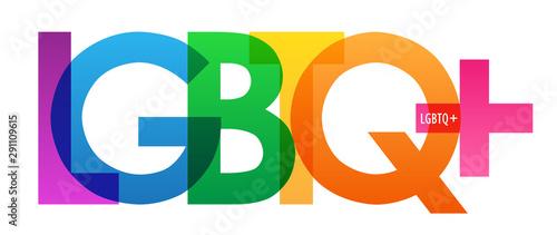 Fototapeta LGBTQ+ rainbow vector typography banner
