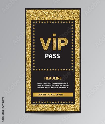 Fotografía  VIP pass admission with glitter