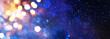 Leinwanddruck Bild - abstract glitter silver, gold , blue lights background. de-focused. banner