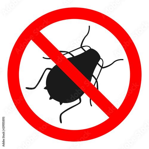NO ARHIDS sign. Insecticide symbol. Vector icon. Wallpaper Mural
