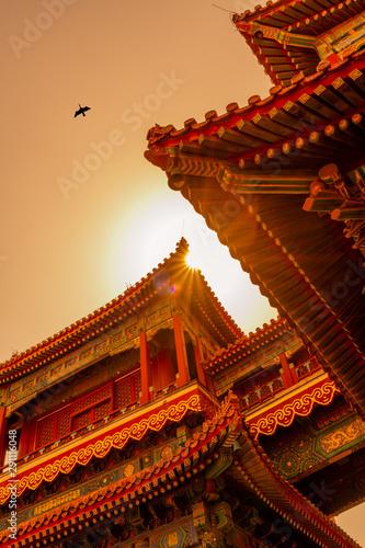 Fototapeta The Lama Temple in Beijing obraz