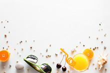 Fruits, Glasses, Shells - Accessories For A Beach Holiday