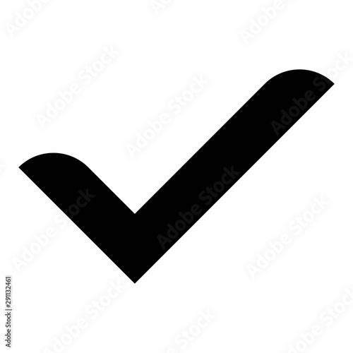Fototapeta check mark icon , Cross mark vector illustration. symbol for web site Computer and mobile vector. obraz na płótnie