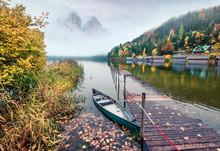 Framatic Autumn Scene Of Altau...