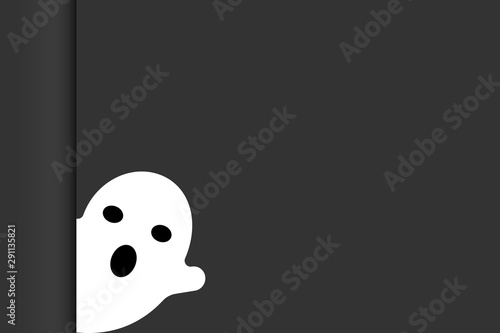 Halloween Wallpaper Cute Ghost In Black Background Buy This Stock Vector And Explore Similar Vectors At Adobe Stock Adobe Stock