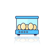Incubator With The Eggs, Vector Outlined Icon