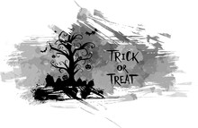 "Halloween Grunge ""Trick Or Treat"" Background"