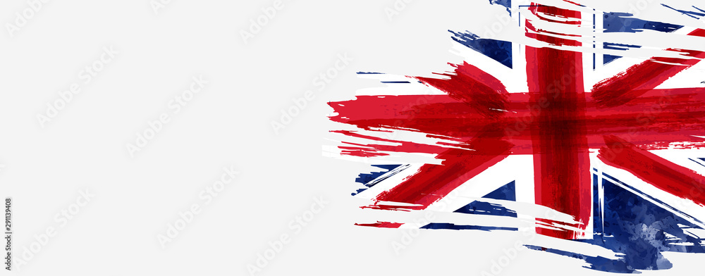 Fototapety, obrazy: Grunge flag of the United Kingdom