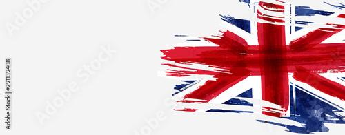 Obraz na plátně  Grunge flag of the United Kingdom