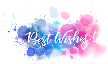 Best Wishes Calligraphy Text