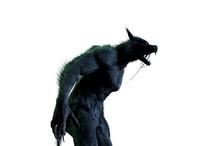 Werewolf On White Background 3...