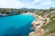 beach in the Bay of Cala Romantica in Mallorca