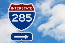 I-285 Interstate USA Highway Road Sign