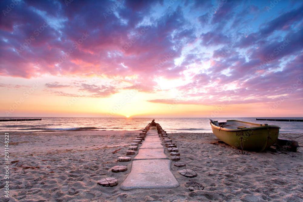 Fototapeta der Weg ins Meer am Strand