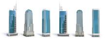Set Of Different Skyscraper Bu...