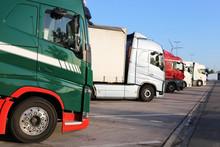 Lorries On The Motorway Stop