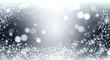 Leinwanddruck Bild - Elegant silver and white glitter, sparkle background with stars