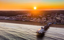 Old Orchard Beach Sunset, Aerial View