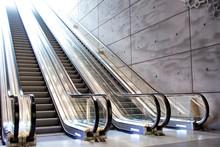 Escalator In A Subway Station