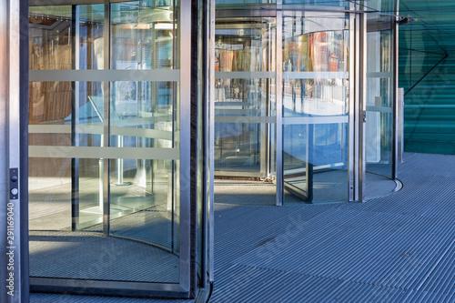 Revolving Glass Entrance