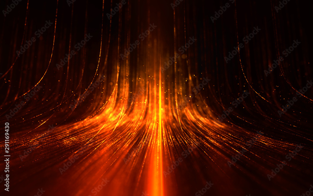 Fototapety, obrazy: Abstract background with magic Lines composed of glowing up.