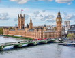 canvas print picture - Westminster palace and Big Ben, London, UK