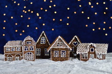 Home Made Gingerbread Town Wit...