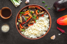 Vegetable Stir Fry With Rice