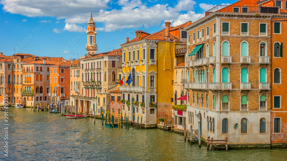 Fototapety, obrazy: Architecture of Venice, Canal Grande, Italy, Europe