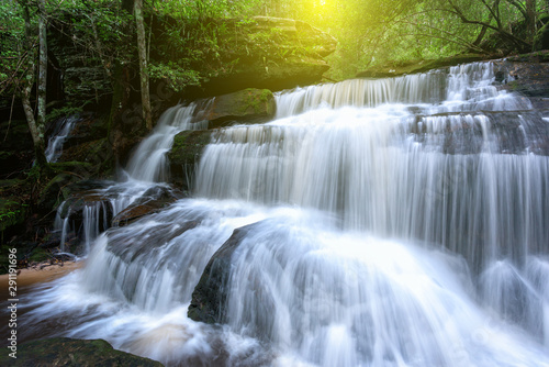 Recess Fitting Waterfalls Beautiful waterfall in deep forest at Thailand.