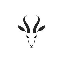Antelope Springbok. Logo. Isol...
