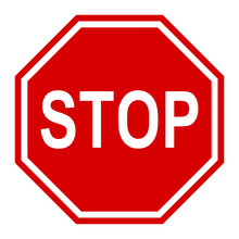 Stop Traffic Sign, Red Vector ...