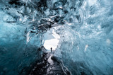Inside a glacier ice cave in Iceland