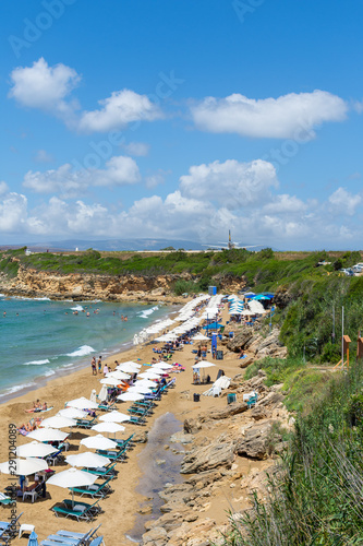 ammes beach with kefalonia airport greece Canvas Print